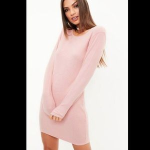 Missguided Long Sleeve Brushed Ribbed Bodycon